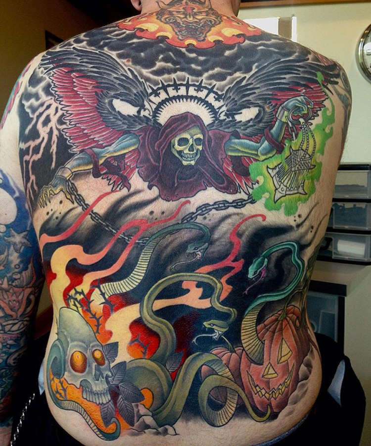 Death back piece